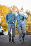 Married Couple Walking Together Outside Stock Photos