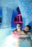 Married couple in water park Royalty Free Stock Photos