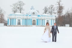 Married couple in winter Royalty Free Stock Images