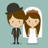 Married design Royalty Free Stock Images