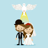 Married design Royalty Free Stock Photo
