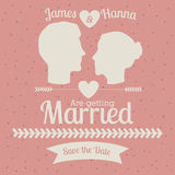 Married design Royalty Free Stock Photos