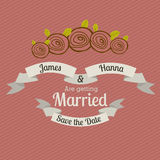 Married design Royalty Free Stock Photography