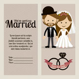 Married design Stock Image