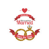 Married design Royalty Free Stock Image