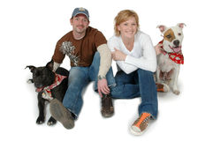 Married with Dogs Royalty Free Stock Photos