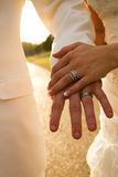 Married Hands Stock Photos