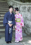 Married japanese couple Stock Photos