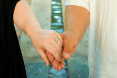 Married People Holding Hands Royalty Free Stock Photos