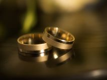 Married rings. Two married rings on the desk Royalty Free Stock Image
