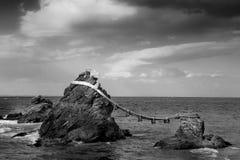 Married rocks. In Meoto Iwa Japan Royalty Free Stock Photography