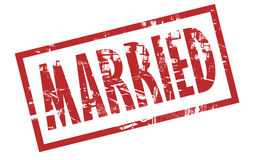 Married stamp. On a white background Royalty Free Stock Photos