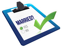Married status question yes or no Stock Images