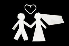 Married, Wedding cartoon Royalty Free Stock Photos