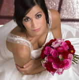 Beautiful Brunette Bride Transfroms Married Woman Stock Photography