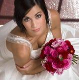 Beautiful Brunette Bride Transfroms Married Woman Stock Photography