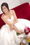 Married Woman Sitting Floral Bride Wedding Stock Photography