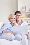 Married young couple at home Stock Photos