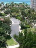 从marriot旅馆阿鲁巴的Vieuw 库存照片