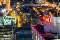 Marriot-Hotel im Stadtzentrum gelegenes Montreal Lizenzfreies Stockbild