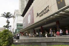 Marriot Plaza στο δρόμο οπωρώνων στη Σιγκαπούρη Στοκ εικόνα με δικαίωμα ελεύθερης χρήσης
