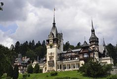 Royal Peles Castle from Sinaia in Romania Royalty Free Stock Photo
