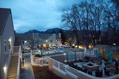 Marriott hotell i stenblock Arkivfoto