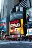 Marriott New York markis, Times Square, Manhattan, NYC Arkivbild