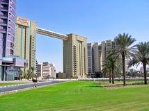 Marriott utövande lägenheter Dubai Creek Royaltyfria Foton