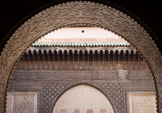 Marrocos C4marraquexe Ali Ben Youssef Medersa Islamic foto de stock royalty free