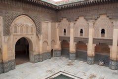 Marrocos C4marraquexe Ali Ben Youssef Medersa Islamic fotografia de stock royalty free