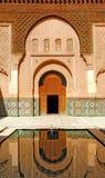 Marrocos, C4marraquexe: Madrasa de Ben Youssef fotografia de stock royalty free