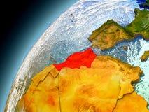 Marrocos da órbita de Earth modelo ilustração do vetor