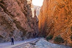 Marrocos, desfiladeiros. Fotografia de Stock Royalty Free