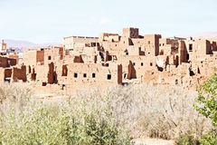 Marrocos Ouarzazate - Ait Ben Haddou Medieval Kasbah ilustração do vetor