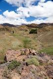 Marrocos, paisagem alta do atlas Vale perto de C4marraquexe na estrada Imagens de Stock Royalty Free