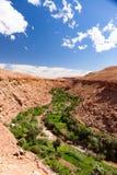 Marrocos, paisagem alta do atlas Vale perto de C4marraquexe na estrada Fotografia de Stock