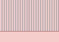 Marrom cor-de-rosa das listras Foto de Stock Royalty Free