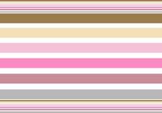 Marrom cor-de-rosa das listras ilustração royalty free