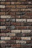 Marrom da parede de tijolo Fotografia de Stock