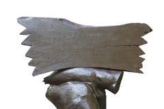 Marrom de madeira do quadro indicador Imagens de Stock Royalty Free