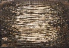Marrom de madeira escuro fundo pintado da textura Fotografia de Stock