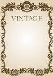 Marrom do frame do estilo do vintage Fotografia de Stock