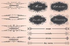 Marrom do menu do restaurante Imagem de Stock