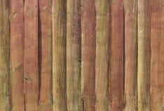 Marrom e verde vermelhos da cerca da textura resistidos Fotos de Stock Royalty Free