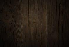 Marrom escuro de madeira de carvalho do fundo, textura do grunge Fotos de Stock Royalty Free