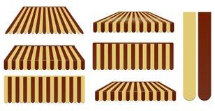 Marrom escuro e toldos marrons macios Imagem de Stock Royalty Free