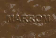 Marrom (Text serie) Stock Photography