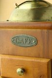 Marrom velho do moedor de café na cor Foto de Stock Royalty Free