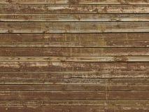 Marrom velho fundo de madeira descascado pintado Imagem de Stock Royalty Free